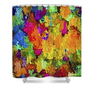 Abstract Series B7 Shower Curtain