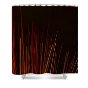 Abstract Background Of Red Sticks Shower Curtain