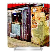 Abstract Barn Base Shower Curtain