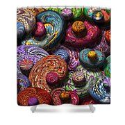 Abstract - Beans Shower Curtain