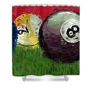 Abstract Billiards  Shower Curtain