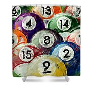 Abstract Billiards Rack Shower Curtain