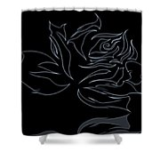 Abstract Black Rose  Shower Curtain