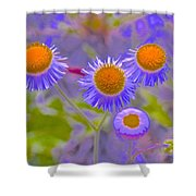Abstract Blooms Shower Curtain