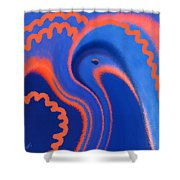 Abstract Blue Bird Shower Curtain