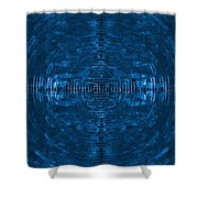 Abstract Blue Electric Circuit Future Technology_oil Painting On Canvas Shower Curtain