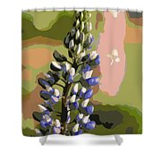 Abstract Blue Lupine Shower Curtain
