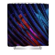 Abstract Blue Red Green Blur Shower Curtain