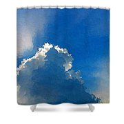 Abstract Blue Sky And Cloud Shower Curtain