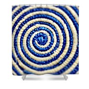 Abstract Blue Swirl Shower Curtain