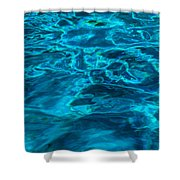 Abstract Blue Water Shower Curtain