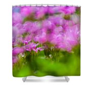 abstract Blurry pink flower background for backgrounds Shower Curtain