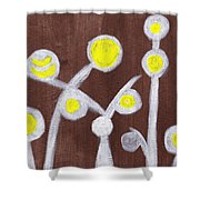 Abstract Bobbles Shower Curtain
