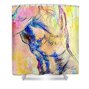 Abstract Bod 6 Shower Curtain