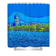 Abstract Boston Skyline Shower Curtain