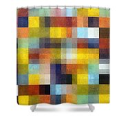 Abstract Boxes With Layers Shower Curtain