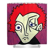 Abstract Boy Shower Curtain