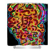 Abstract  Brain Shower Curtain