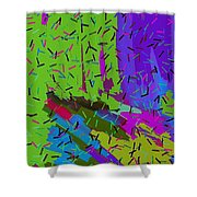 Abstract. Bring In The Noise Shower Curtain