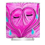 Abstract Broken Heart Shower Curtain