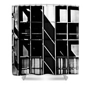 Abstract Building Fascade With Light And Shadow Shower Curtain