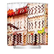 Abstract Buildings Shower Curtain