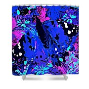 Abstract Butterfly #2 Shower Curtain