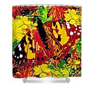Abstract Butterfly #3 Autumn Shower Curtain