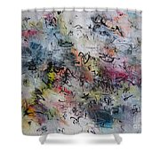 Abstract Butterfly Dragonfly Painting Shower Curtain