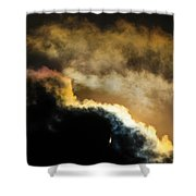 Abstract By Eclipse Shower Curtain