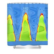 Abstract By Photoshop 12 Shower Curtain