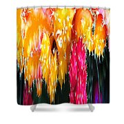 Abstract Cacti I Shower Curtain