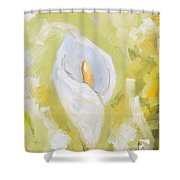 Abstract Calla Lily Shower Curtain