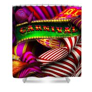 Abstract - Carnival Shower Curtain