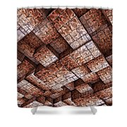 Abstract Ceiling Stone Construction  Shower Curtain