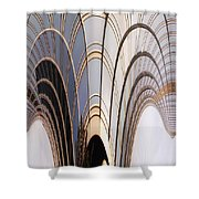 Abstract Chicago Sunrays On Trump Tower Shower Curtain
