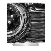 Abstract Chrome Shower Curtain