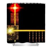 Abstract Church Shower Curtain