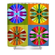 Abstract Circles And Squares 1 Shower Curtain