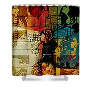 Abstract Collage 01 Shower Curtain
