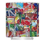 Abstract Collages 1 Shower Curtain