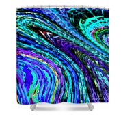Abstract Color Flow Shower Curtain