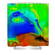 Abstract Color Fun Shower Curtain