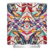 Abstract Color Mix Shower Curtain