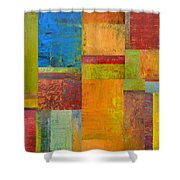 Abstract Color Study Collage Ll Shower Curtain