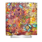 Abstract Colorama Shower Curtain