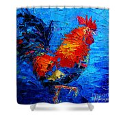 Abstract Colorful Gallic Rooster Shower Curtain