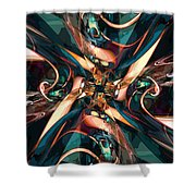 Abstract Colorful Shapes Shower Curtain