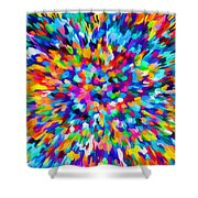 Abstract Colorful Splash Background 1 Shower Curtain