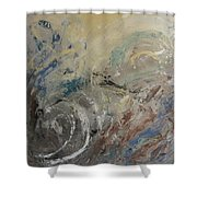 Abstract Composition 1 Shower Curtain by Anita Burgermeister